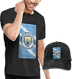 JYFKA Manchester City Men's Short-Sleeve Crewneck T-Shirts and Give Away a Outdoor Baseball Hat