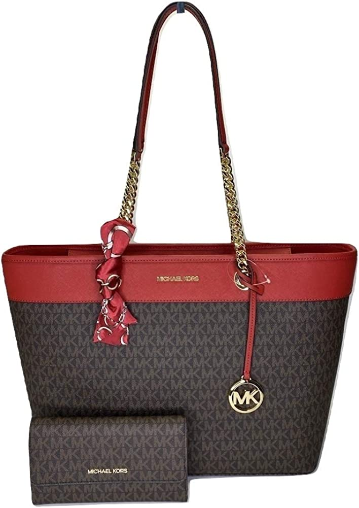 MICHAEL outlet Michael Kors Shania Large EW mat Chain with Tote bundled Attention brand