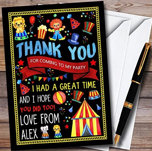 Black Kids Sale price Circus Carnival Personalized Topics on TV Childrens Clown Birthday
