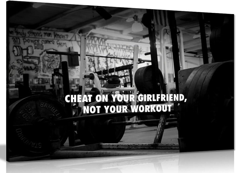 Leinwanddruck, Motiv  Motivation für das das das Fitnessstudio (in englischer Sprache), A0 91x61cm (36x24in) B071J5VRL6 e7d19f