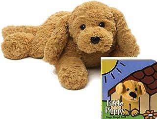 "GUND Muttsy Dog Stuffed Animal Plush, Beige, 14"" Gift Set"