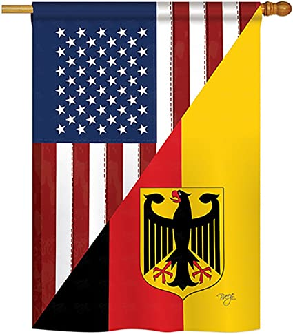 Breeze Decor Us German Friendship Flags Of The World Everyday Impressions Decorative Vertical House Flag 28 X 40 Printed In Usa Garden Outdoor