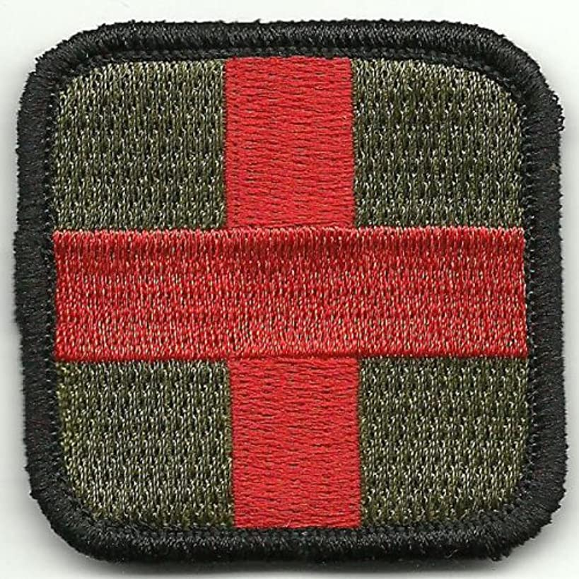 Gadsden and Culpeper Medic Cross Tactical Patch - Olive & Red