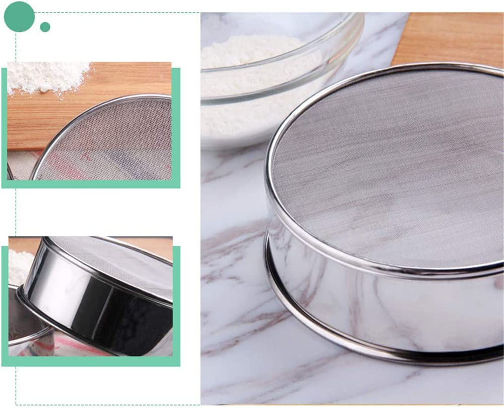 Zher-Lu Tamis /à farine en acier inoxydable 60 Mesh-24cm