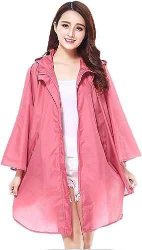 MWPO Manteau de Pluie Rose pour Femmes légères, Manteau de Pluie portatif en Plein air, Voyage de Plein air (Couleur  Rose, Taille  F)