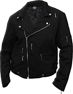 Spiral - Mens - Metal Streetwear - Lined Biker Jacket Black
