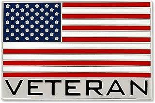 Bold Veteran American Flag Jewelry Lapel Pin