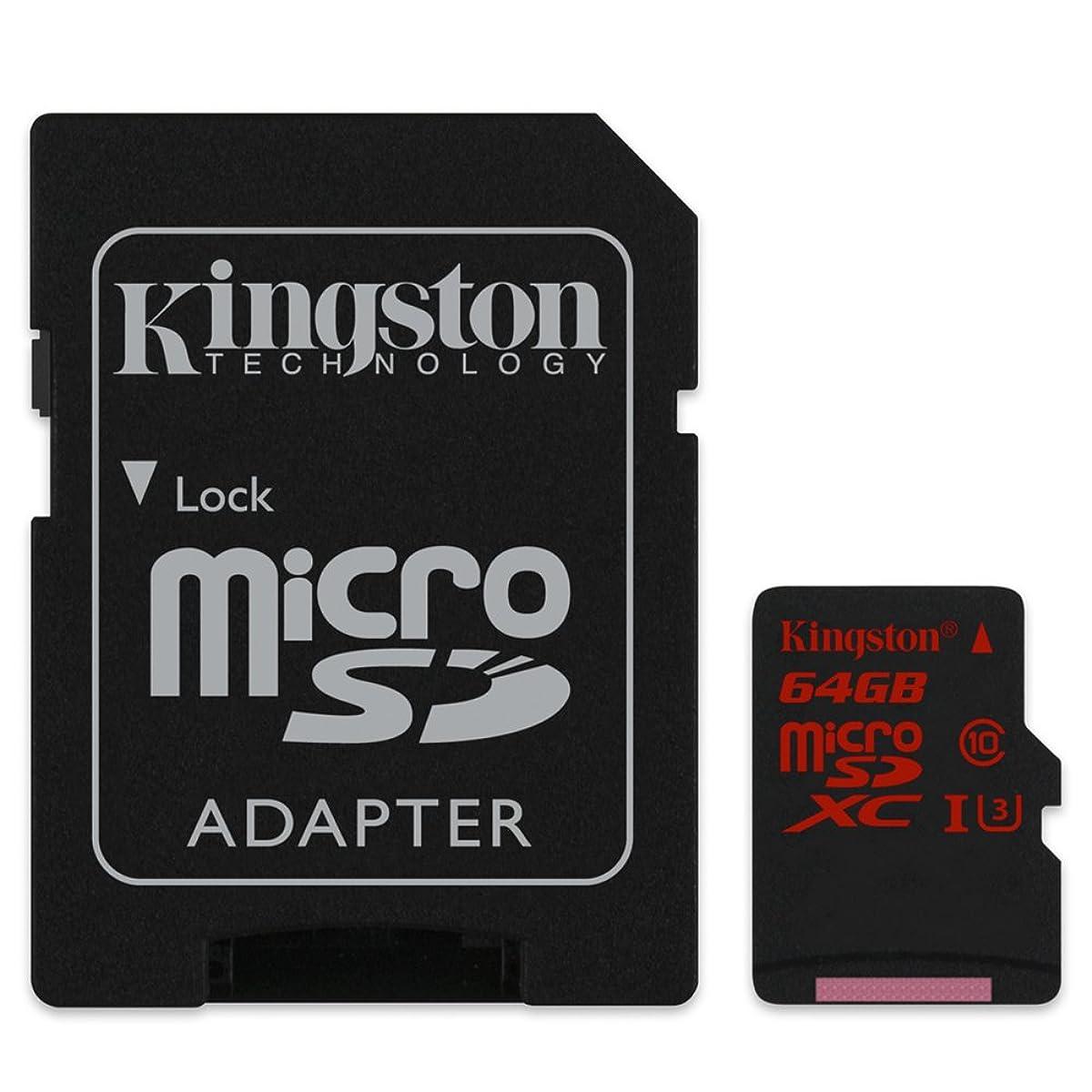 ラック有益な悩みキングストン Kingston microSDXCカード 64GB クラス U3 UHS-I 対応 アダプタ付 SDCA3/64GB 永久保証