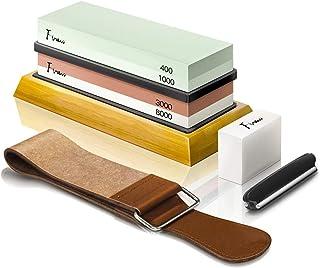 Knife Sharpening Stone Kit, Finew Professional Whetstone Sharpener Stone Set, Premium 4..
