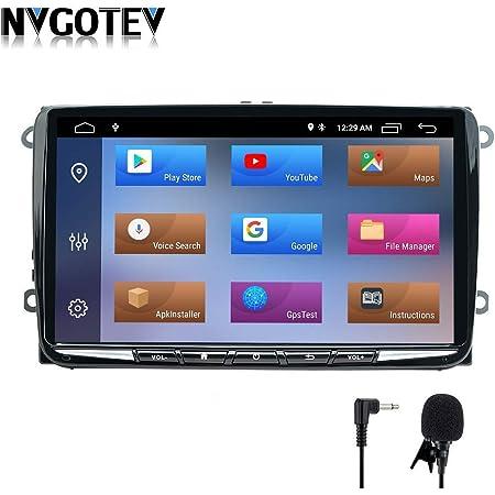 Android 10 Autoradio Für Vw Skoda Seat Polo Golf Passat Touran T5 Octavia 1 Din Navi 9 Zoll Hd Touchscreen Bluetooth Usb Wifi Swc Dsp Dab 2g 32g Navigation