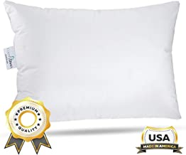 ComfyDown Toddler Pillow - 800 - Fill Power Goose Down - 300-TC Cotton Cover - Made in USA - 13