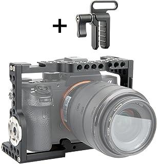 NICEYRIG カメラケージ Sony A7Ⅲ/A7RⅢ/A7RⅡ/A7SⅡ/A7Ⅱ専用 DSLR装備HDMIケーブルクリップ付き ARRIギア付き 軽量 取付便利 耐久性 -139