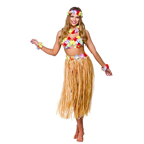 82fb9c065f5 Hawaiian Girl Skirt & Leis Fancy Dress Ladies National Dress Womens Costume  Set