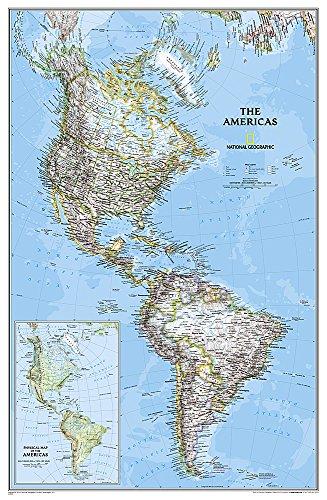 Nord- & Südamerika politisch, laminiert