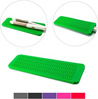 ZAXOP Resistant Silicone Mat Pouch for Flat Iron, Curling Iron,Hot Hair Tools (Green)