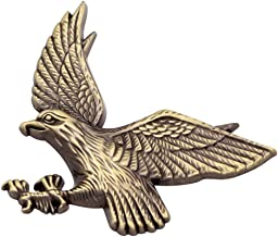 Usa American Flying Eagle Gold Emblem Metal Badge Trunk Auto Fender Side Door Car Adhesive 3D Die Cast Zinc Alloy TOTUMY 1 Piece