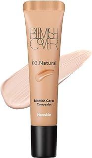 Hanskin Blemish Cover Full Coverage Concealer, Semi Matte Creamy Formula, Flawless Finish, Korean Cosmetic [Natural/12g]