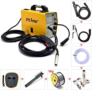 Portable 3 In 1 ARC MIG FCAW Welder, 110V/ 220V Dual Voltage IGBT Inverter Max 160A Gasless Flux Core Wire Automatic Feed Welding Machine Gas Solid Wire Welding Equipment MIG160