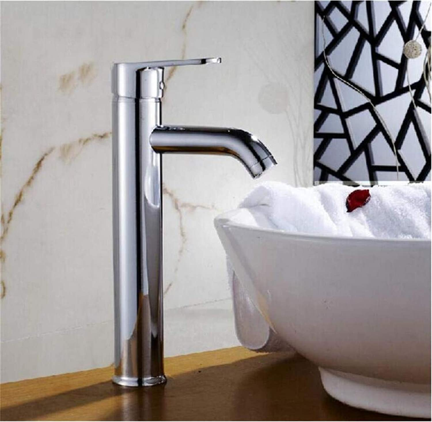 Vintage Brass 360 Degree redation Chrome Bathroom Sink Faucet Vessel Tap Washbasin Cold and Hot Water Faucet