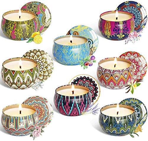 Opiqcey Aroma Kerzen,8 Stück Duftkerzen Geschenk Set
