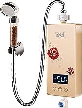 L.TSA Electronic Instant Bathroom boiler 5,5kW met LCD-display (kleur: goud)