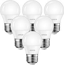 ANWIO 4.5W LED-lamp G45, 470lm 2700K warm wit E27 LED-lamp, niet dimbaar (verpakking van 6)