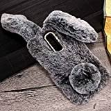 Lenovo C2 Art Case, Handmade Fluffy Villi Rabbit Baby Wool