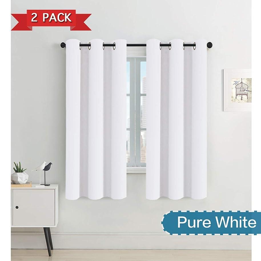 Draperies Curtains Panels, Window Treatment Grommet Top Standard Window Curtains/Drapes (2 Panels, 42 by 63, Pure White)