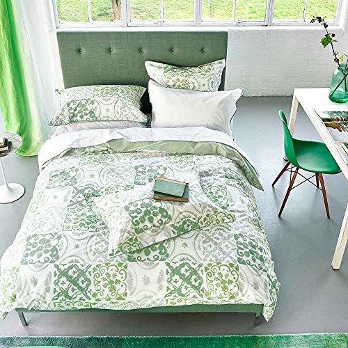 Designers Guild Pesaro Housse de Couette, Coton, Emerald, 200x200 cm
