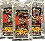Dr. Burnoriums Psycho Nuts 3 x Paquetes De Cacahuetes (Pimienta De Fantasma) *muy picantes* 80 g