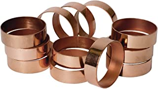 Koyal Wholesale Napkin Ring Metal Bands, Copper Polished, Bulk Set of 12, for Paper Napkin, Cloth Napkin, Wedding Reception, Christmas Party, Thanksgiving Dinner, Restaurant Every Day Use