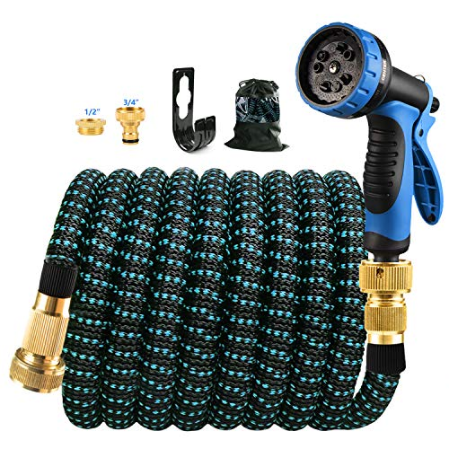 Expandable Garden Hose Extra Strength,Solid Brass Fittings The Ultimate...