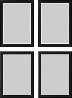 comprar comparacion Ikea Marco de Fotos Fiskbo, A4, 21 x 30 cm, Negro, 4 Piezas, cartón, aglomerado, película, plástico de poliestireno, Pintu...