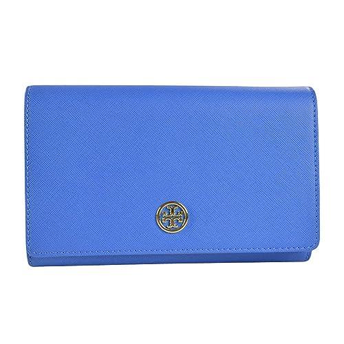 027bb8a92eda Tory Burch Robinson Chain Wallet - Windsor Blue
