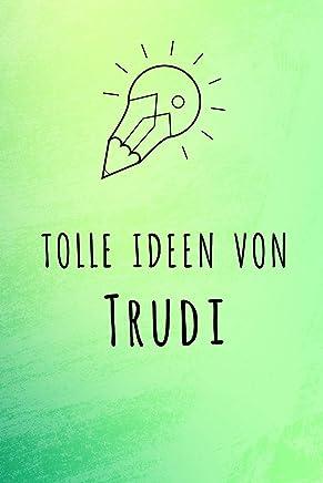 Tolle Ideen von Trudi: Unliniertes Notizbuch mit Rahmen für deinen Vornamen