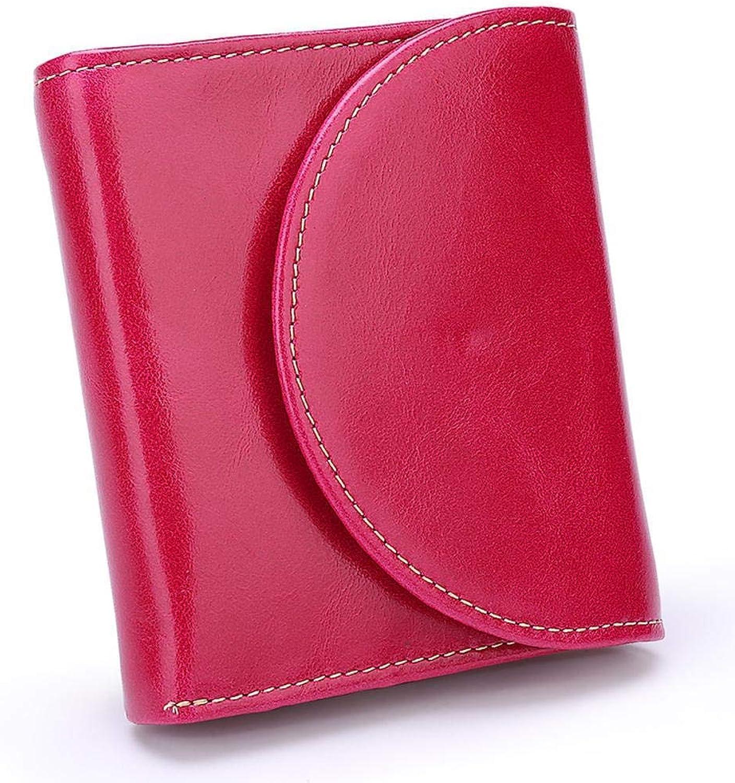 Girls Purse Women's Wallet Purse Lady's Short Wax PU Wallet