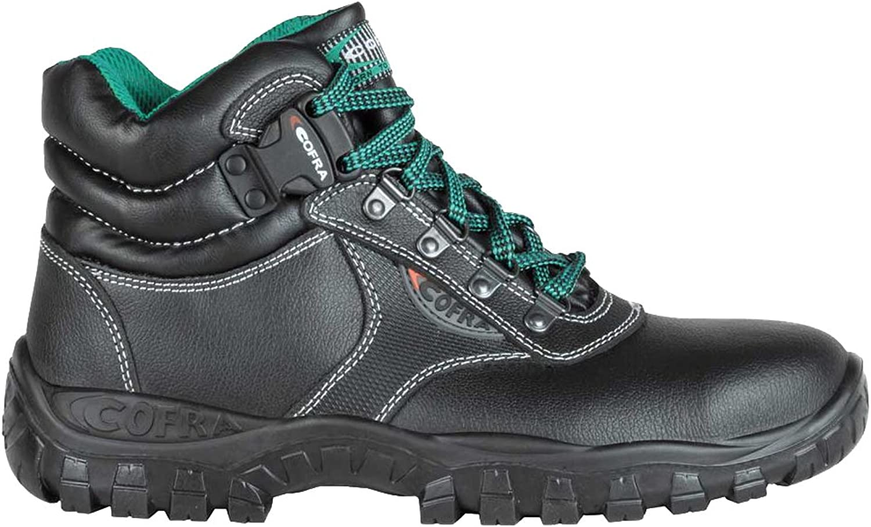Cofra TA020-000.W36 Work shoes,  Plutone , Size 3.5, Black - EN safety certified