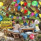 iZoeL Einschulung Deko Schulanfang Schuleinführung Girlande Alles Gute Zum Schulanfang + 40m Wimpelkette + 15 Luftballon + Konfetti + Folienballon für Junge Mädchen - 3