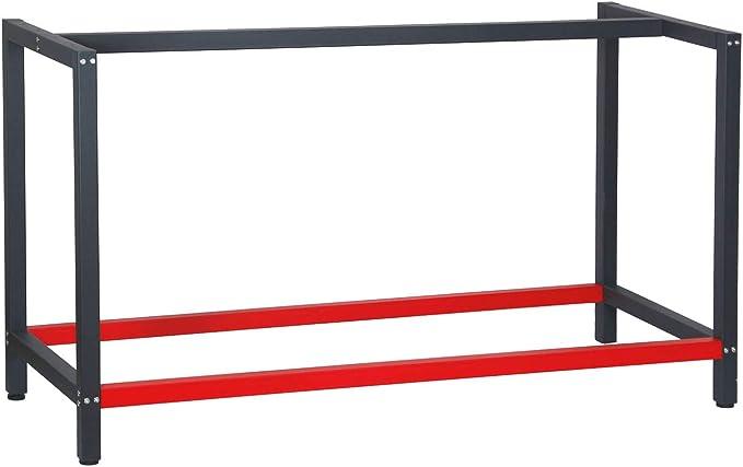 32 opinioni per Telaio per banco da lavoro 150x57x81 cm acciaio antracite-rosso base per tavolo