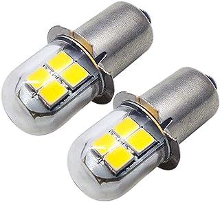 Ruiandsion 2 bombillas LED P13.5S amarillas 2835 8SMD chips 4.5V 6V LED actualización para faros delanteros, linternas, linterna
