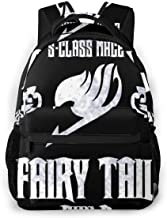 OXZNCVWQ Fairy-Tail, Class-mage S, Fairy-Tail-Logo, Natsu, Manga Backpack Day Pack,Backpacks Laptop Bag for Kids Boys Girl,Notebook Backpack - Unisex Backpack - Student Backpack