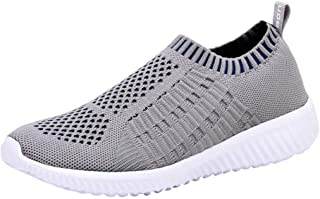 Women's Slip On Sneakers - Casual Mesh Athletic Comfortable Walking Shoes
