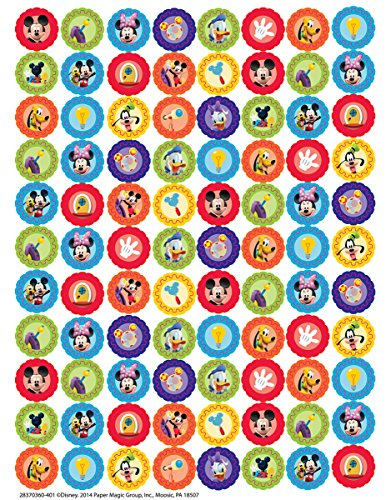 Eureka Back to School Classroom Supplies Mickey Mouse Clubhouse Mini Sticker Book, 704 pcs