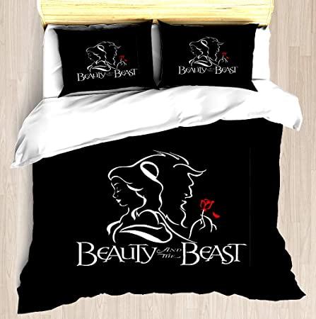 Beauty and the Beast Doona Duvet Cover Anime Bedding Set Quilt Cover Pillowcase