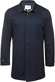 Mens Cotton 3/4 Length Mac Overcoat Navy/Khaki 2XL