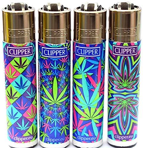 Clipper marihuana hennep psychedelische bladeren navulbare aanstekers veel van 4