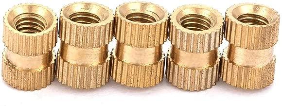 M2 Rosca hembra Lat/ón Moleteado Roscado Inserto redondo Cilindro de cobre Moleteado en tuercas embutidas M2*2 * 3.5(100pcs)