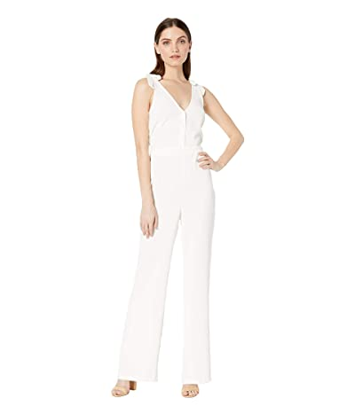 Cupcakes and Cashmere Topeka V-Neck Jumpsuit (Ivory) Women