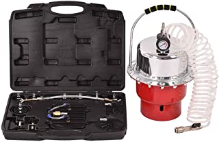 Goplus Pneumatic Air Pressure Brake Bleeding Kit Garage Workshop Mechanics Brake Oil and Fluid Extractor Bleeder Tool w/Case (Red)