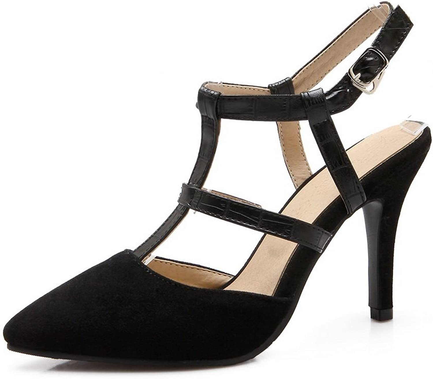 AdeeSu Womens High-Heels Slip-Resistant Frosted Pumps shoes